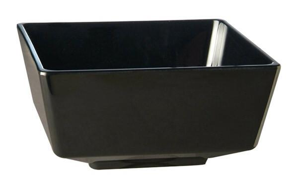 APS melamine FLOAT bowl vierkant 19,5 cm ZWART