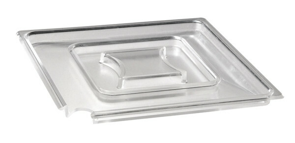 APS melamine FLOAT deksel vierkant 19 cm ZWART