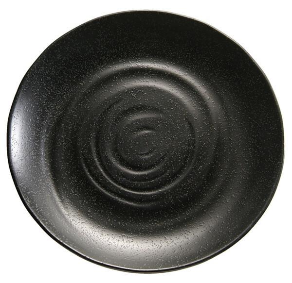 APS melamine ZEN bord rond 28 cm ZWART