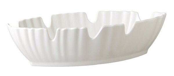 APS melamine Natural Collection palmbladschaal WIT 40 x 18,5 cm
