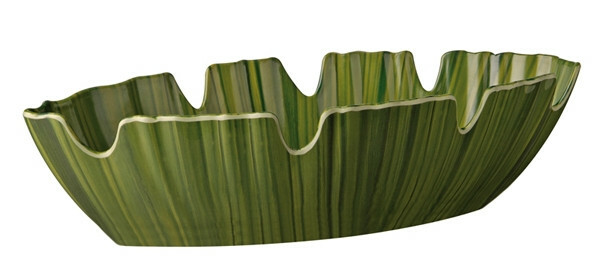 APS melamine Natural Collection palmbladschaal GROEN 40 x 18,5 cm