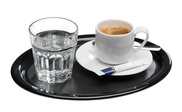 APS melamine Kaffeehaus serveerschaaltje 26 x 20 cm ZWART
