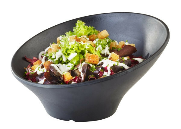 APS melamine ZEN schuine bowl Ø 22,5 cm ZWART