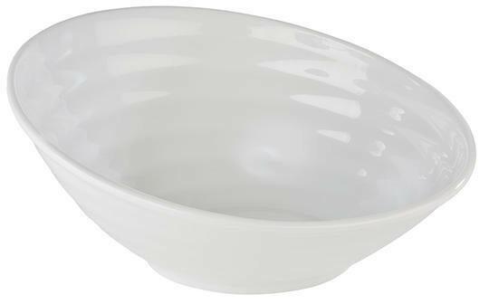APS melamine Global Buffet bowl schuin 46 x 40 cm WIT