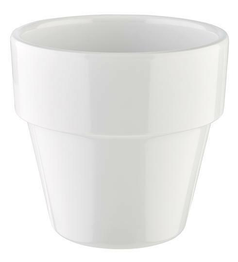 APS melamine Flower Pot bowl Ø 9 cm 30 cl wit