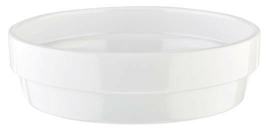 APS melamine Flower Pot bowl Ø 12 cm 20 cl wit