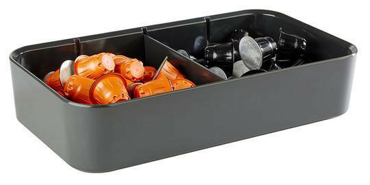 multi box melamine zwart 31,5 x17,5 x 7(h) cm