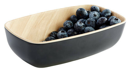 APS melamine Frida bowl 17,6 x 10,8 x 5,5(h) cm zwart