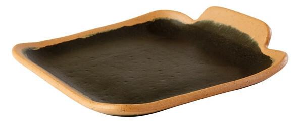 APS melamine Crocker bord VK 14 x 13 cm zwart