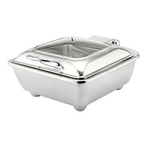 chafing dish vierkant * elektrisch glazen deksel