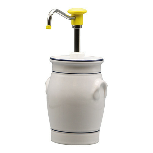 sausdispenser in keulse pot * mosterd 2 Ltr