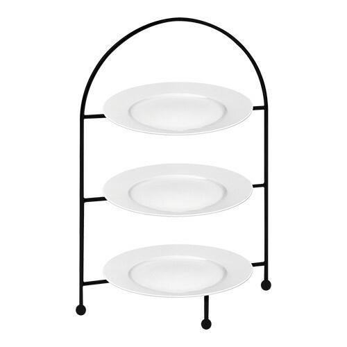 etagere geëpoxeerd incl. 3 borden Ø 21 cm