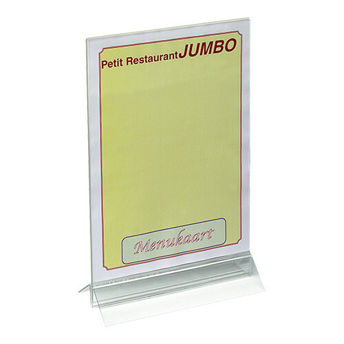 menukaarthouder plexiglas 21 x 32,5(h) cm