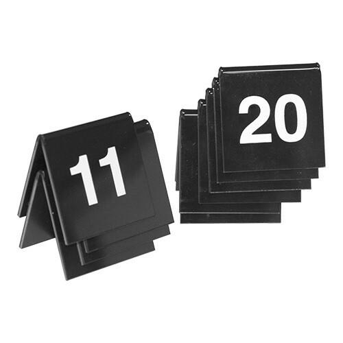 tafelnummers kunststof  11 - 20 4 x 4(h) cm DOOS 10