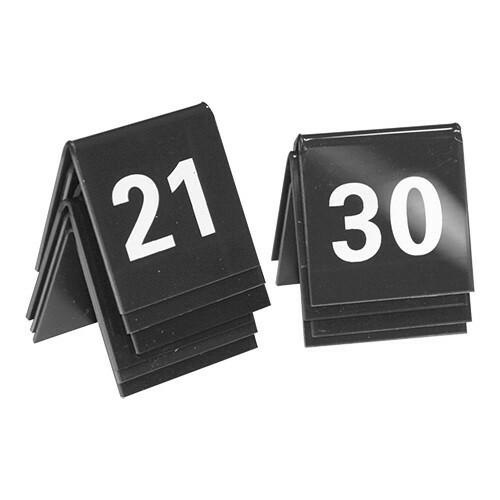 tafelnummers kunststof  21 - 30 4 x 4(h) cm DOOS 10