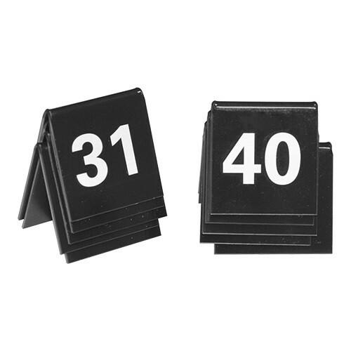 tafelnummers kunststof  31 - 40 4 x 4(h) cm DOOS 10