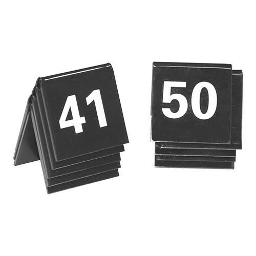 tafelnummers kunststof  41 - 50 4 x 4(h) cm DOOS 10