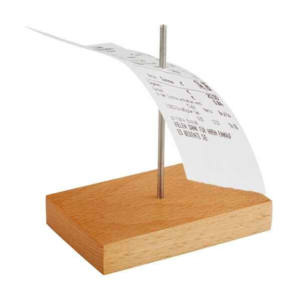 bonnenhouder hout 9 x 5,5 x 10,5(h) cm 1 prikker