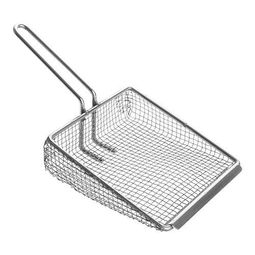 fritesschep roestvrijstaal 20 x 17 cm enkel gaas