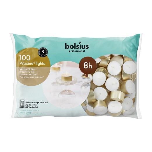 Bolsius waxinelichtjes Professional Waxine 8 uurs DOOS 100