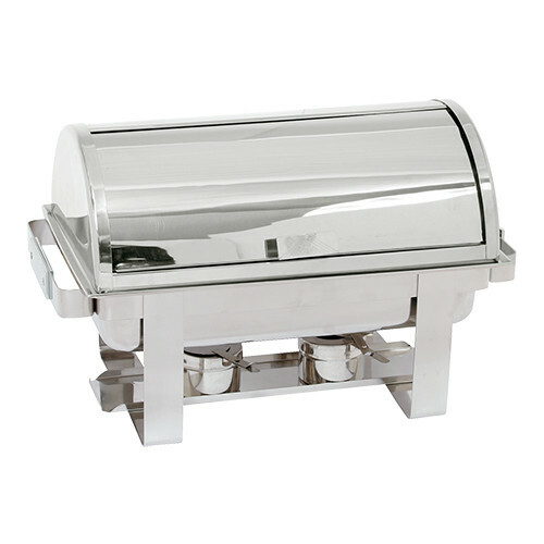 chafing dish roll top 18/10 * voedselpan 65 mm