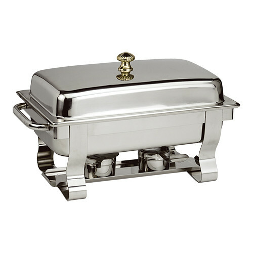 chafing dish DeLuxe 18/10 * voedselpan 1/1 GN 65 mm