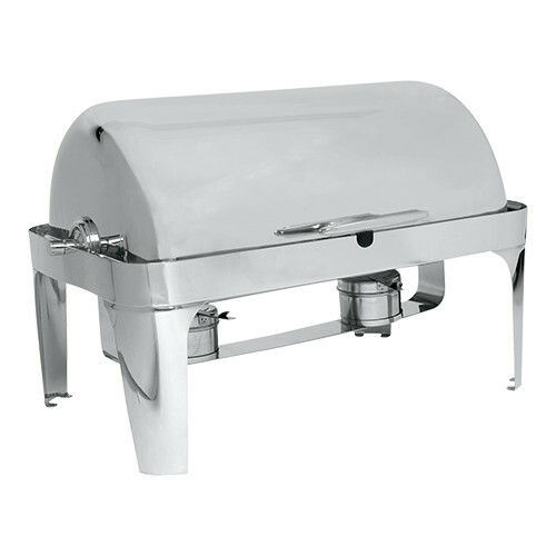chafing dish roll top 18/10 * voedselpan 1/1 GN 65 mm