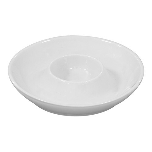 eierdop porselein met vaste schotel Ø 11 cm DOOS 6