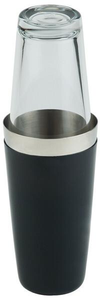 boston shaker edelstaal 70 cl zwart, incl. glas 40 cl