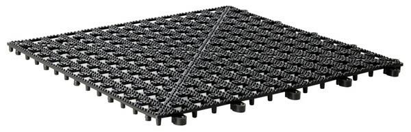 barmat koppelbaar zwart 33 x 33 cm
