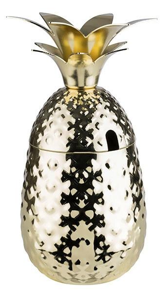 beker Pineapple goud Ø 9 x 19(h) cm 50 cl