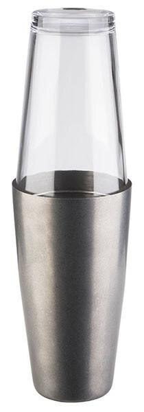 boston shaker antiek edelstaal 70 cl, incl. glas 40 cl