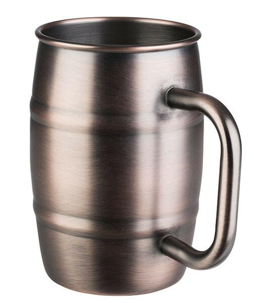 beker Beer mug antiek koper Ø 8,5 x 13(h) cm 50 cl