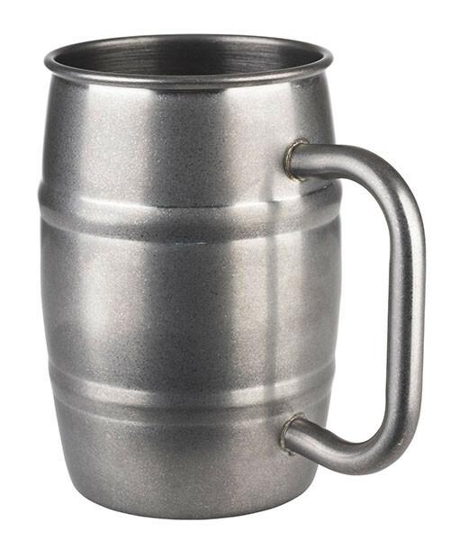 beker Beer mug antiek edelstaal Ø 8,5 x 13(h) cm 50 cl