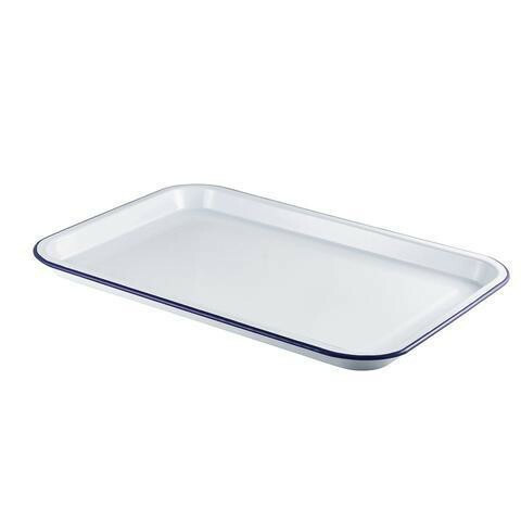 emaille foodplateau 30,5 x 23,5 cm