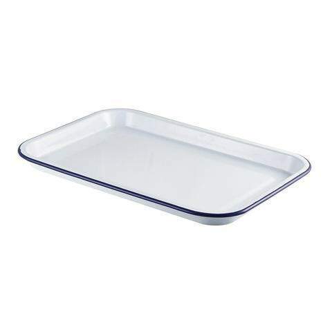 emaille foodplateau 38,2 x 26,4 cm