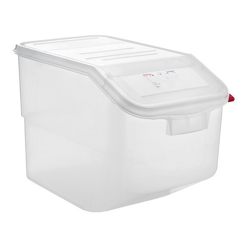 Araven voedselcontainer 1/1 GN polypropyleen 50 Ltr met twee openingen