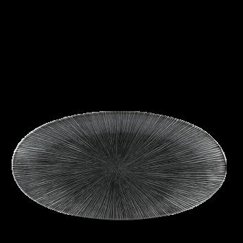 Studio Prints Agano Black chef`s ovaal bord 29,9 cm