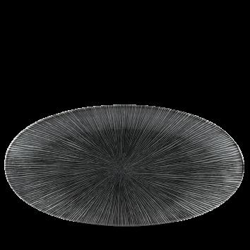 Studio Prints Agano Black chef`s ovaal bord 34,7 cm
