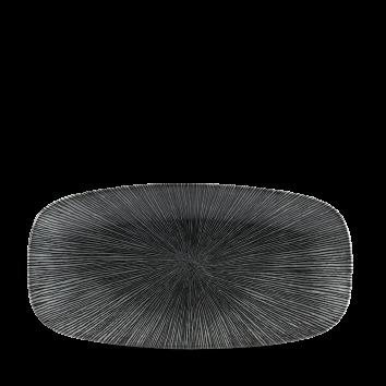 Studio Prints Agano Black chef`s oblong plate 29,8 x 15,3 cm