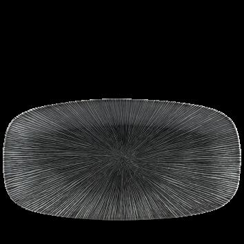 Studio Prints Agano Black chef`s oblong plate 35,5 x 18,9 cm