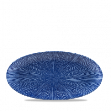 Studio Prints Agano Blue chef`s ovaal bord 29,9 cm