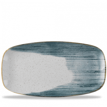 Stonecast Accents Blueberry chef`s oblong plate 35,5 x 18.9 cm