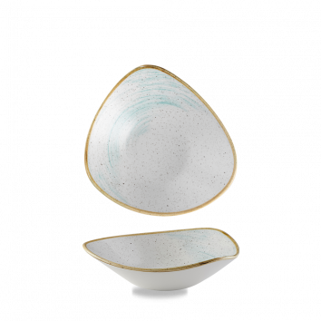 Stonecast Accents Duck Egg Blue triangle bowl 23,5 cm