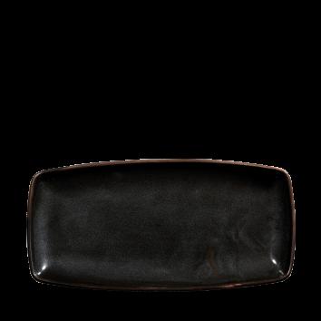 Churchill X Squared Black Sparkle oblong plate 29,5 x 15 cm