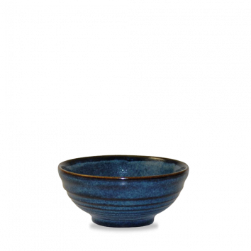 Churchill Bit on the Side ripple sapphire snack bowl 28 cl