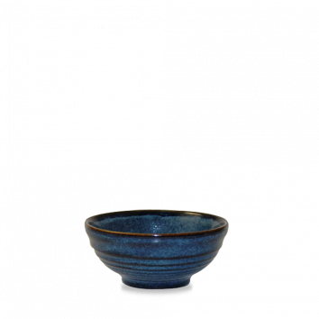 Churchill Bit on the Side ripple sapphire snack bowl 17 cl