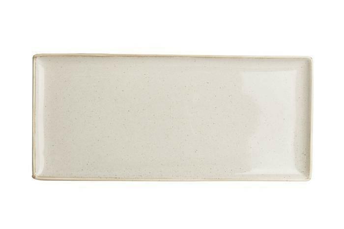 Porland Seasons Beige oblong bord 35 x 16 cm