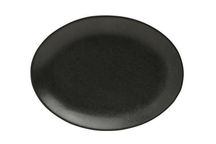 Porland Seasons Black ovaal bord 24 x 19 cm
