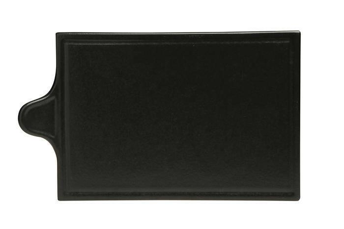 Porland Seasons Black oblong bord met greep 30 x 18 cm